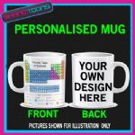 PERIODIC TABLE OF ELEMENTS MUG CHEMISTY SCIENTIST